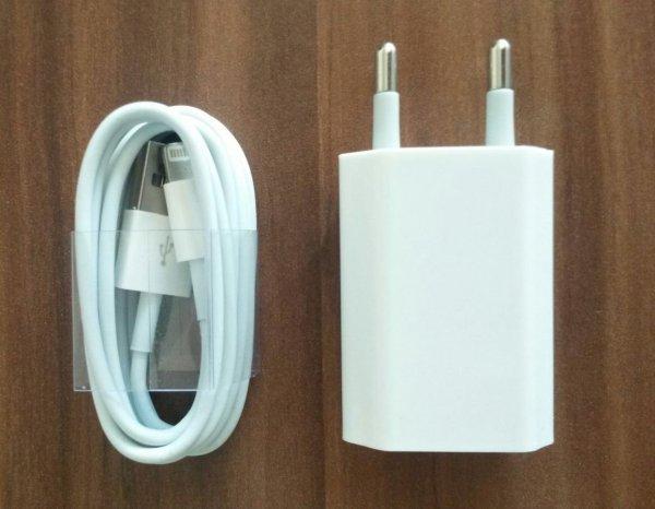 Ladekabel für original iPhone 5 5s 6 Plus + Netzteil Adapter Ladegerät Set