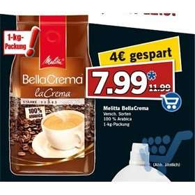 [Lidl] Melitta Bella Crema 1kg, Super-Samstag 12.09.2015