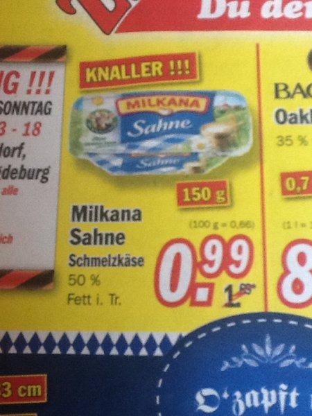 [ZIMMERMANN] Milkana Sahne Schmelzkäse 0,99€ abzüglich 0,50€ Chashback 0,49€
