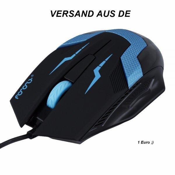 WIEDER VERFÜGBAR [EBAY] Gaming Maus 1600 DPI Optisch/Ergonomisches Gaming Maus!! für 1€ inkl. Versand
