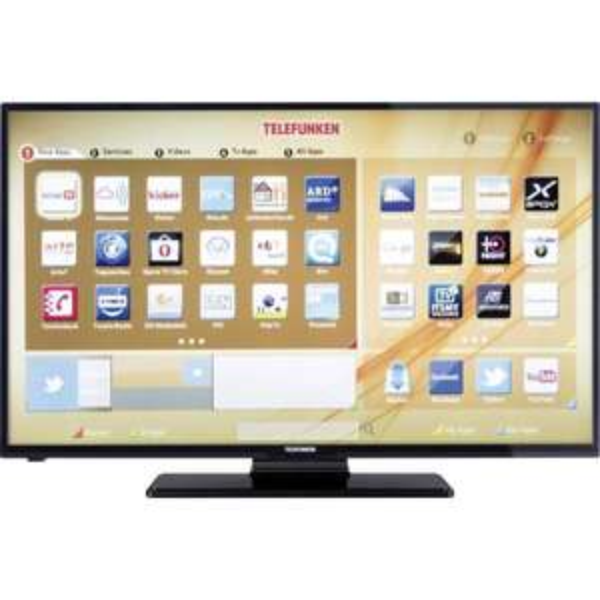 LED-Fernseher 107 cm 42 Zoll Telefunken D42F275A3CWI EEK A+ DVB-T, DVB-C, DVB-S, Full HD, Smart TV, WLAN, CI+ Schwarz
