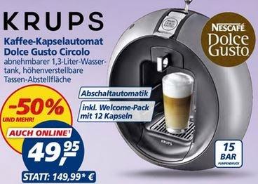 [Real] Krups Nescafé Dolce Gusto Circolo - 49,95€ - Idealo: 60€ zzgl. Versand!