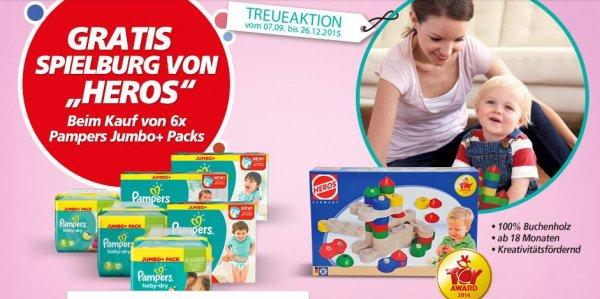 Heros Spieburg kostenlos bei Kauf von 6 Pampers Jumbo+ Packs im Real (diese Woche im Angebot)