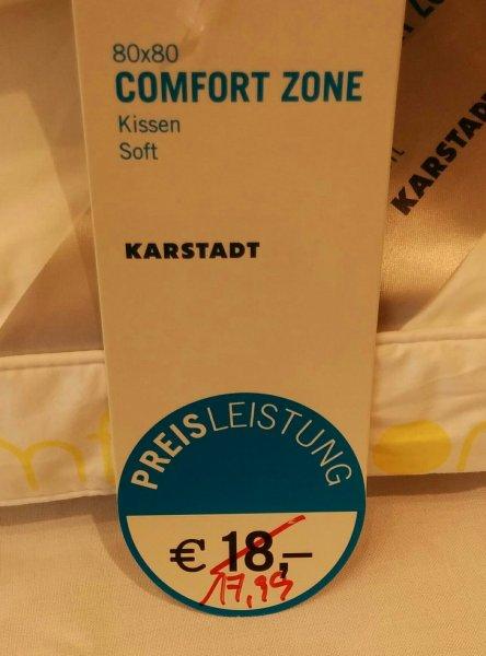 Karstadt - Kissen Comfort Zone mit unschlagbarem Rabatt