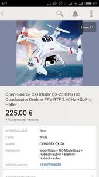Drohne Quadcopter Cheerson CX-20 Open Source Version Versand De