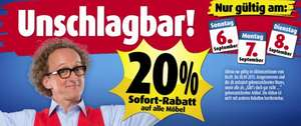 Roller.de + Filiale 20% auf alle Möbel