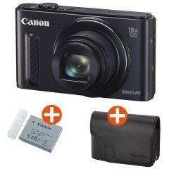 Canon PowerShot SX610 HS schwarz mit Zusatzakku und Kameratasche