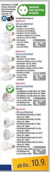 LED Leuchtmittel verschiedene Sorten, ab 10.09. [ALDI Süd]