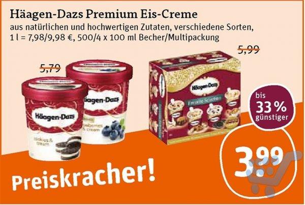 [tegut Thüringen oder BW?] Häagen Dazs 500 ml 3,99 €