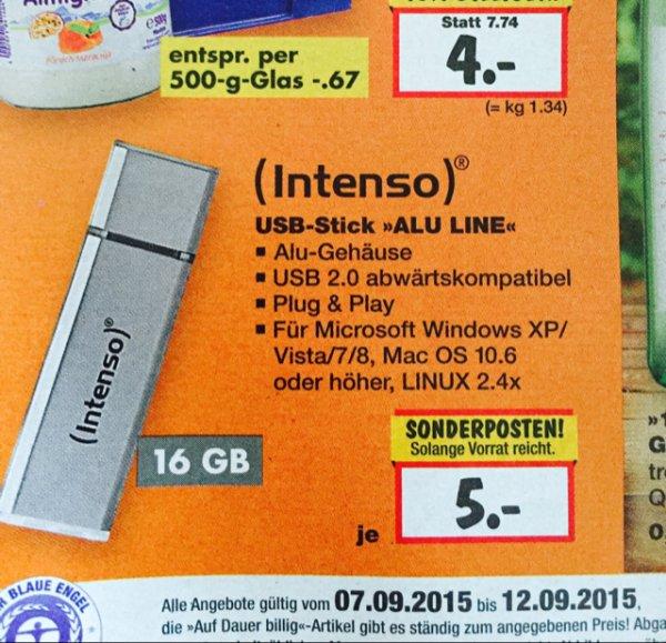 [Kaufland Dallgow Döberitz] Intenso 16GB USB Stick 2.0 Alu Line