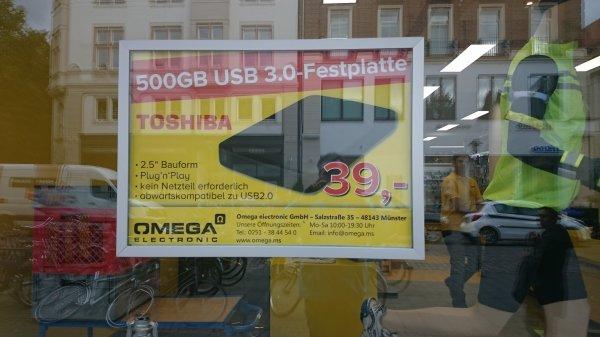 [Lokal Münster] Toshiba 2,5 Zoll 500 GB externe Festplatte