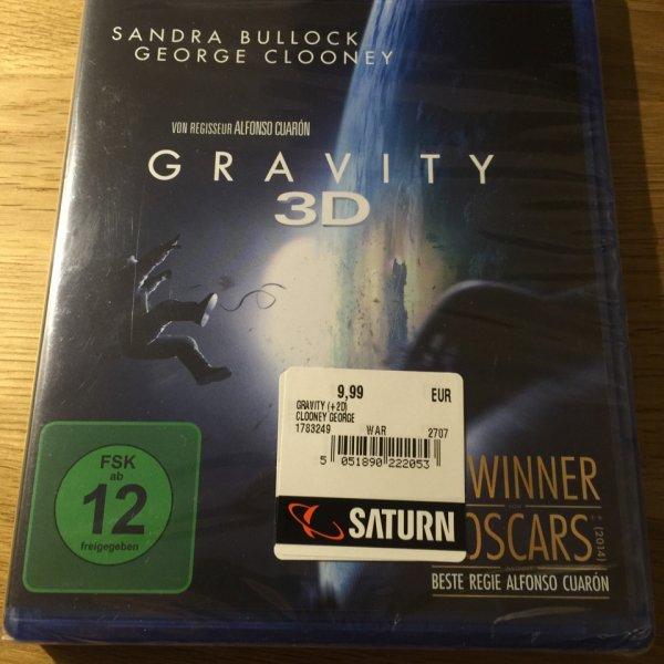 GRAVITY 3D Blu-ray [lokal Saturn Baunatal]