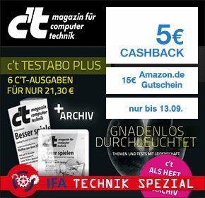[qipu] IFA Spezial bei Qipu: 6 c't-Ausgaben + 15€ Amazon Gutschein + 5€ Cashback