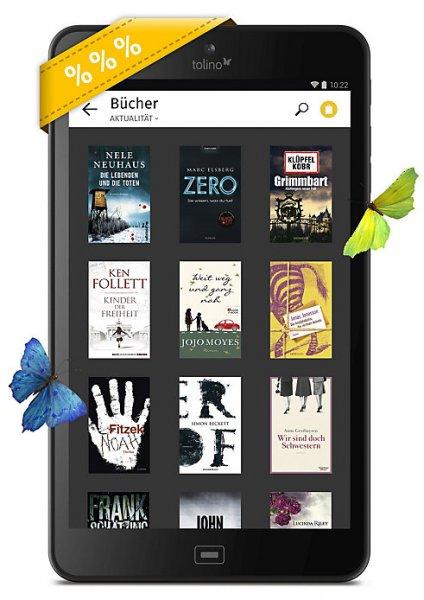 """[ebook.de] Tolino Tab 8"""" - inkl. 5 ebooks - Bestpreis"""