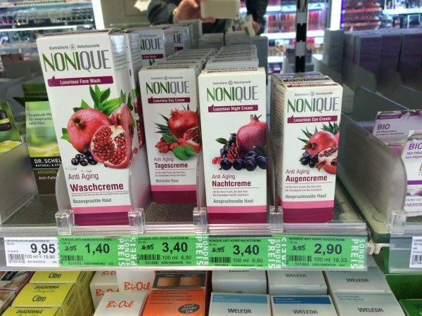 [Rossmann Green Label] Abverkauf Nonique Naturkosmetik 4 Sorten