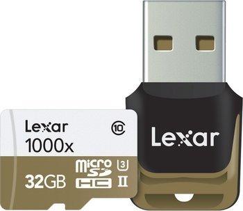 Lexar Professional 32GB Class 10 High-Performance 1000x Micro SDHC UHS-II (Class 10) Speicherkarte mit USB-Kartenleser inkl. Vsk für ~ 27 € > [mymemory.de]