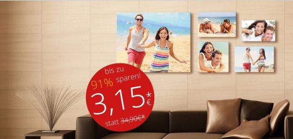 meinXXL - Foto Leinwand - 30x20cm - 91% Gespart - 3,15€ Pro Stück