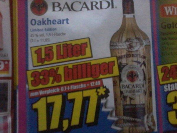 BACARDI OAKHEART 1,5l ((NORMA)) für 17,77€