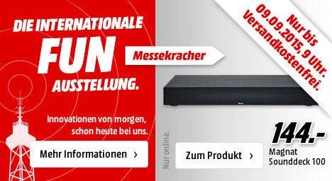 [Mediamarkt] Ab 20.00 Uhr..Magnat Sounddeck 100 Heimkino-Sounddeck mit integriertem Subwoofer/Bluetooth für 144,-€ Versandkostenfrei