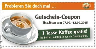 [lokal: GLOBUS Kaiserslautern] 1 Tasse Kaffee gratis bis 12.09.15
