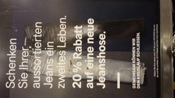 [H&M] 20% Rabatt auf Jeans bei Abgabe einer alten Jeans