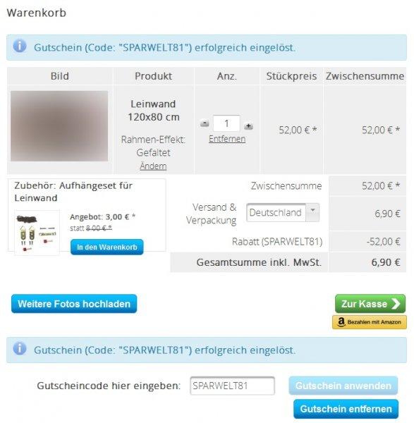 MeinXXL Leinwand 120 x 80cm für unglaubliche 6,90€ (inkl. Versand!)