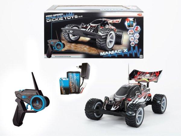 @Amazon Prime oder Buchtrick: Dickie Spielzeug 201119068 - RC Maniac X, Ready to Run, 2-Kanal Funkfernsteuerung mit 2,4 GHz, weiß/rot/schwarz für 24,99€ / Idealo ab 64 €