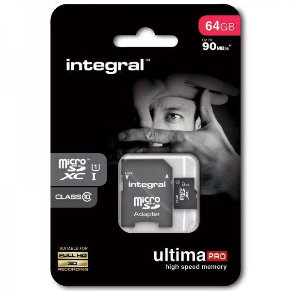 "Integral™ - 64GB microSDXC-Speicherkarte ""Ultima Pro"" (UHS-I/Class 10,inkl. SD-Adapter) für €17,84 [@Mymemory.co.uk]"