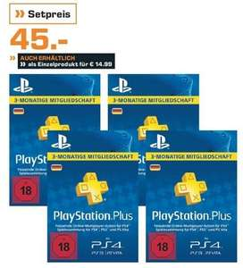 [Saturn] PSN Playstation Plus DE 4x 3-Monate für 45€