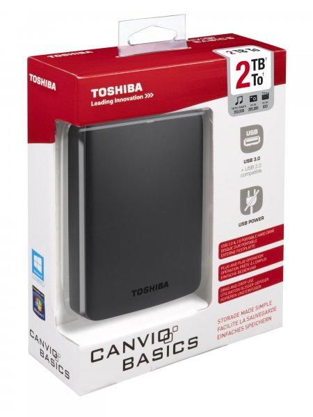 "Toshiba Basics 2TB - Externe 2,5"" Festplatte"