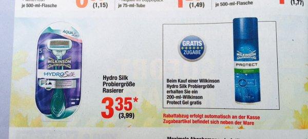 [Metro] Wilkinson - Hydro Silk Rasierer + Gratis Rasierschaum 3,35 € (netto)