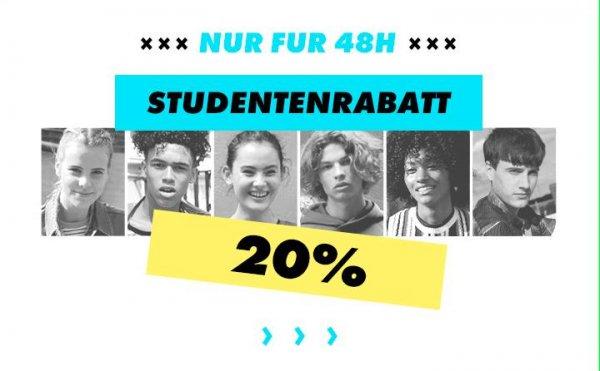 [Asos] 24h 20% Rabatt für Studenten auf reguläre Ware, ab 30€ versandkostenfrei