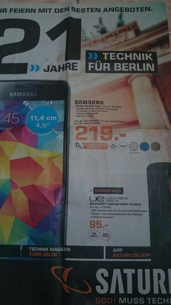 Saturn Berlin/Brandenburg (offline)z.B. Ue Boom Box 95€, Samsung S5 mini 219€