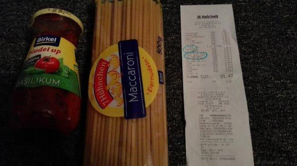 [offline] Birkel Pasta gratis - Nudeln + Sauce (kompletter Cashback)