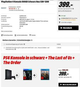 Playstation 4 CUH-1200 + The Order + The Last Of Us
