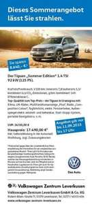 "[Leverkusen] VW Tiguan ""Summer Edition"" 1.4 TSI, 125 PS"