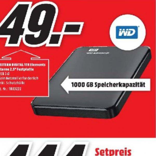 """[Mediamarkt Essen] Western Digital Elements externe Festplatte 2,5"""", 1TB, USB 3.0"""
