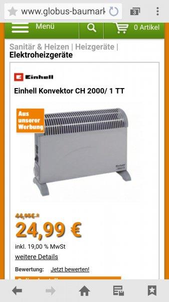 Elektroheizung Einhell Ch 2000/1TT