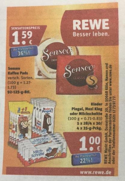 [REWE Nord] evtl Bundesweit KW37 Kinder 4x Maxi King / 5x Milchschnitte /4x Pingui