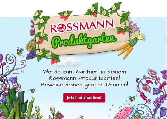 Rossmann Produktgarten Facebook / jeden Monat ein Freebie sichern