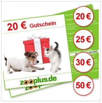 [Abgelaufen - alle, die bisher gekauft haben hatten Glück] Zooplus.de Gutscheine kaufen - ca. 20% Rabatt