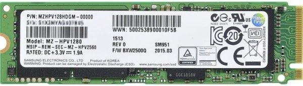 Samsung SSD SM951 128GB M.2 für 93,97 @ MF