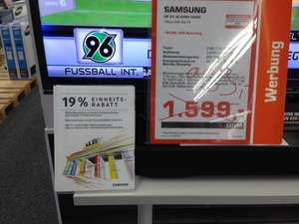 (Lokal Saturn Münster) Samsung UE55JU6485 55 Zoll UHD für 809,19€