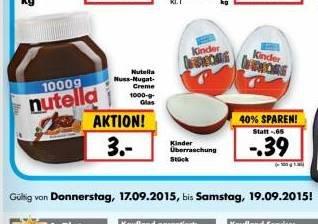 Kinder Überraschungsei  bei KAufland Bayern  für  0,39 €