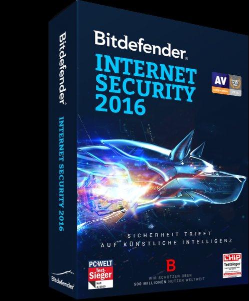Bitdefender Internet Security 2016 - 360 Tage kostenlos