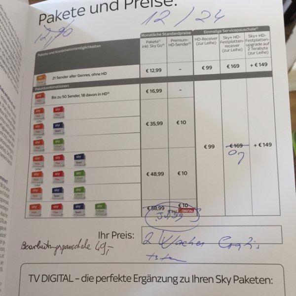 [Lokal Augsburg Real?] Sky HD komplett 35,99€ (Bearbeitungsgebühr 49€)