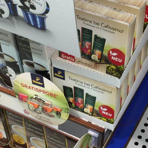 3 Gratis Teekapseln für Cafissimo