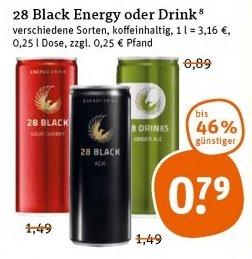 "[tegut, ""bundesweit""] 28 Black (Schwarze Dose) - 0,79€!"