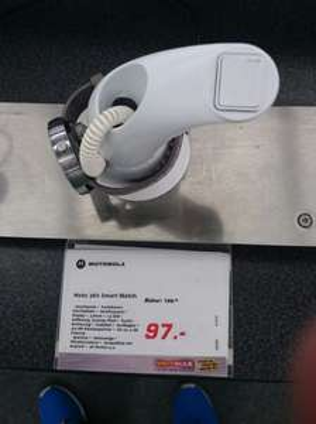 [Lokal Wernigerode] Smartwatch Moto 360, Lederarmband grau