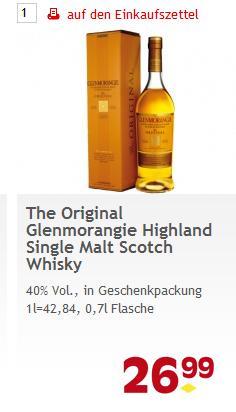LOKAL BERLIN: 0,7l Glenmorangie The Original 10y Single Malt 26,99 Euro @ Reichelt-Edeka